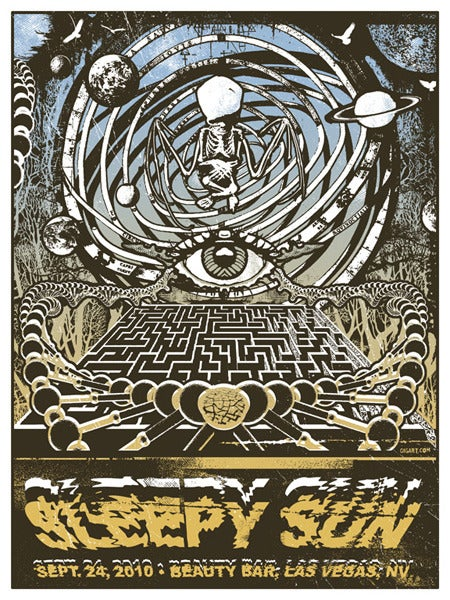 Image of Sleepy Sun Skeleton Space Labyrinth Poster 2010