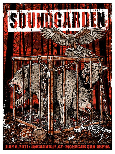 Image of Soundgarden Rusty Cage Poster 2011