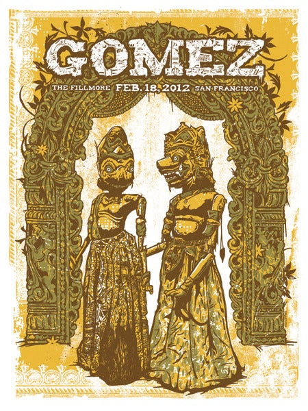 Image of Gomez Band Fillmore Poster 2012