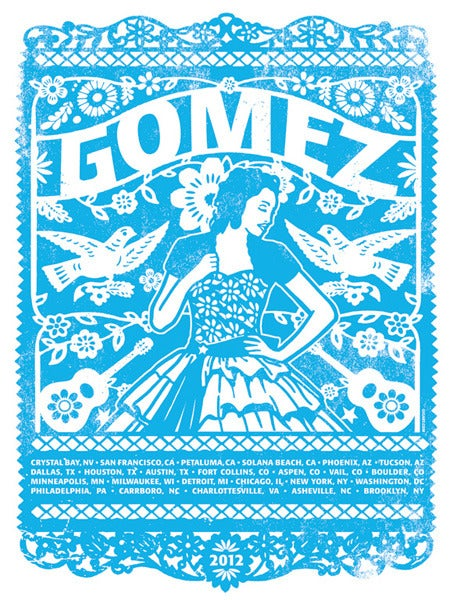 Image of Gomez Band Blue Main US Tour Poster 2012