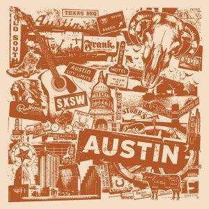 Image of Austin Texas City Print