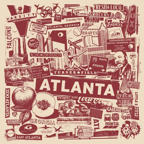 Image of Atlanta City Print