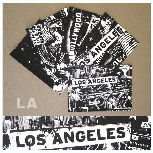 Image of 5 Pack Los Angeles City Postcard Set
