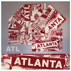 Image of 5 Pack Atlanta City Postcard Set