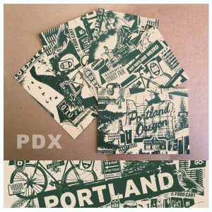 Image of 5 Pack Portland City Postcard Set