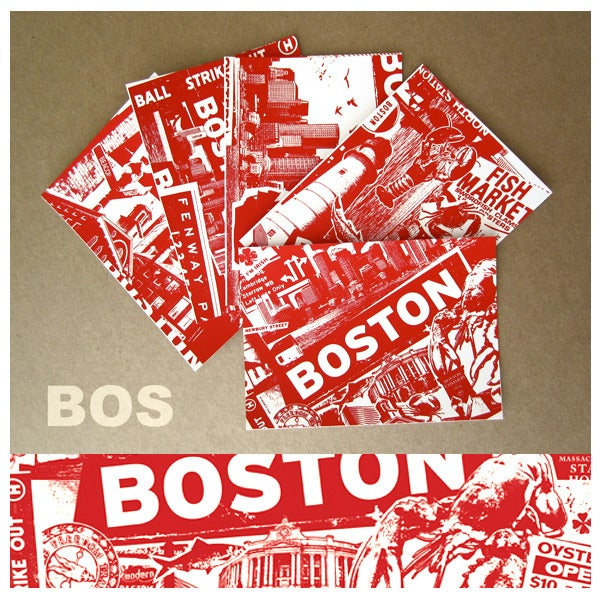 Image of 5 Pack Boston City Postcard Set