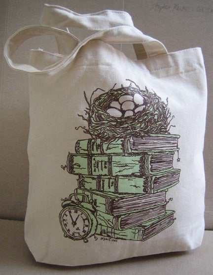 Image of Stacked Book Bird Nest Bag