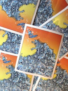 Image of Lion Wave Vinyl Sticker