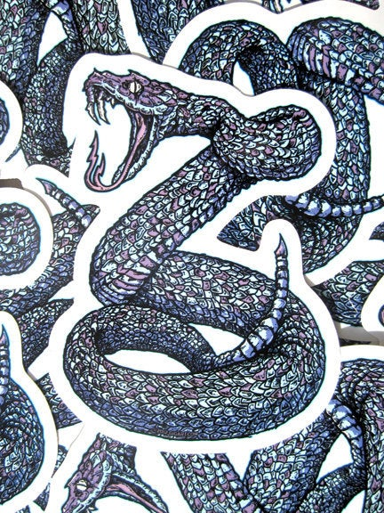 Image of Rattle Snake Killer Die Cut Vinyl Sticker