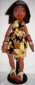 Image of Handmade Cloth Doll Art Doll Bohemian Jetta