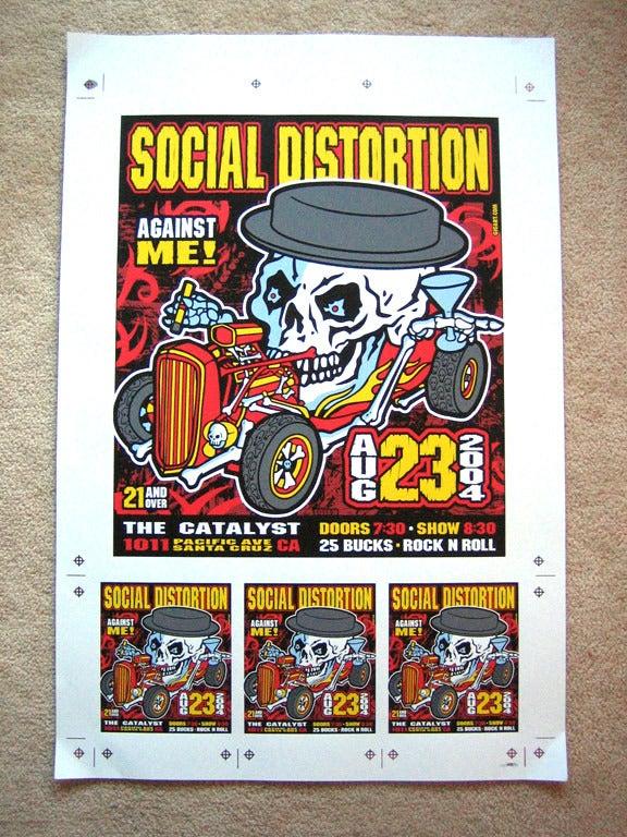 Image of Social Distortion Uncut Poster Sheet