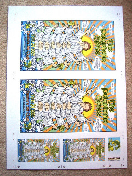 Image of The Polyphonic Spree Uncut Poster Sheet
