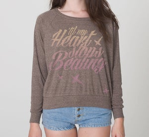 Image of The 'Heart Stops Beating' Sweater - Mocha