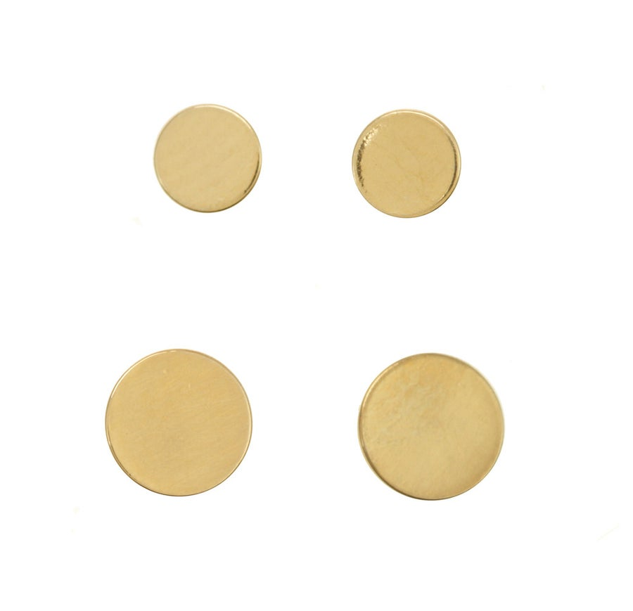 Image of FLAT DISC VERMEIL stud earrings
