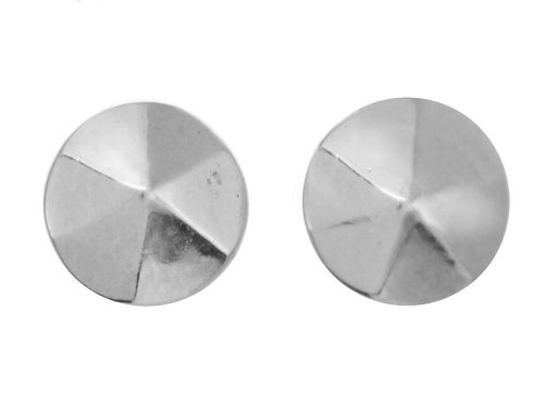 Image of FACETED ROUNDEL stud earrings