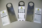 Image of Scaff Tag Holder Metal - holder only (price includes GST)