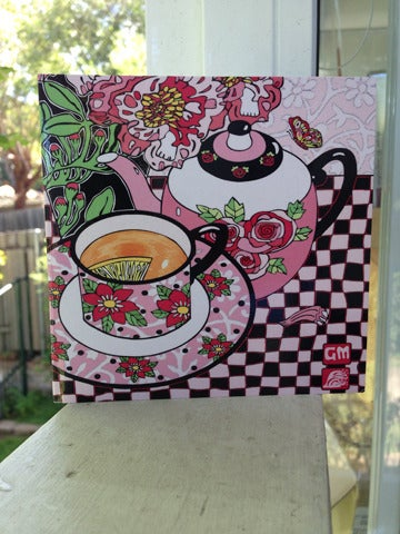Image of Little Pink Teapot card pack