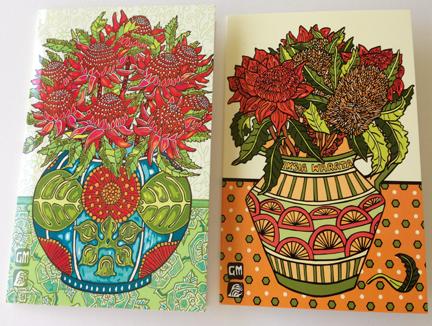 Image of Waratah Spring and Jug of Waratahs and Banksia card pack