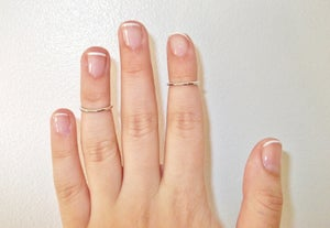 Image of Plain Above Knuckle Ring (Set of Two)