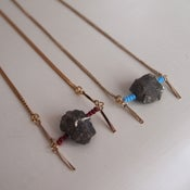 Image of Pyrite Protection Necklace - Bordeaux
