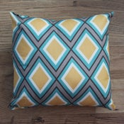 Image of Handmade Cushion - Diamond Print