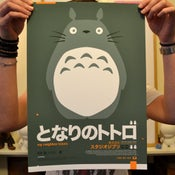 Image of Totoro : : Grey A3 Print