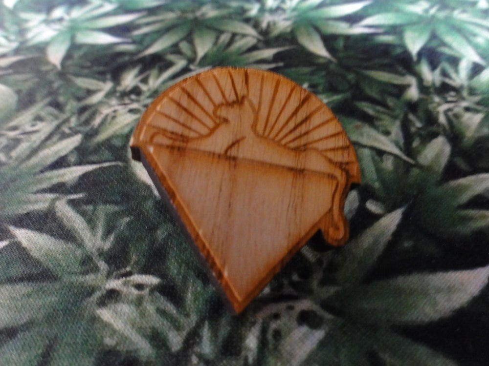 Image of Cats Under The Stars Wood Pin
