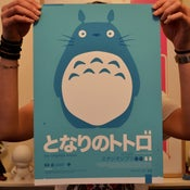Image of Totoro : : Blue A3 Print