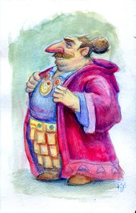 Image of The Merchant - Original Watercolor Painting