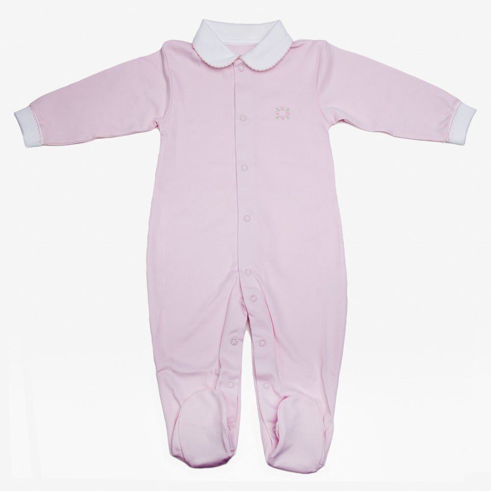 Image of Pijama con Cuello BB en Color Rosado