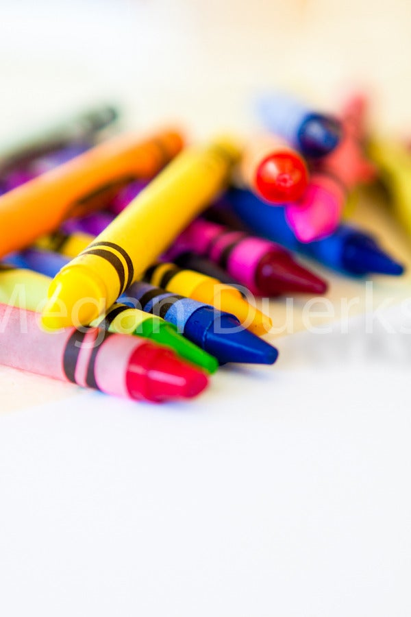 Image of Stack of Crayons Print