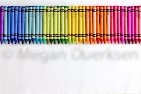 Image of Row of Crayons Print