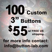"Image of 100 3"" Custom Buttons"