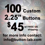 "Image of 100 2.25"" Custom Buttons"