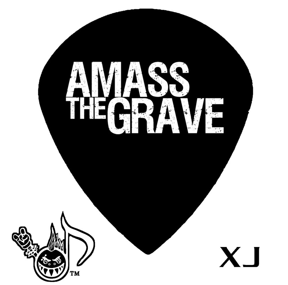Image of AMASS THE GRAVE GUITAR/BASS PICKS -5-