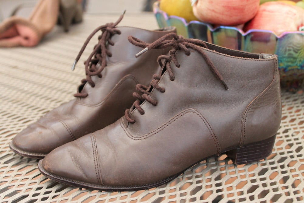 Image of Brown leather shoes