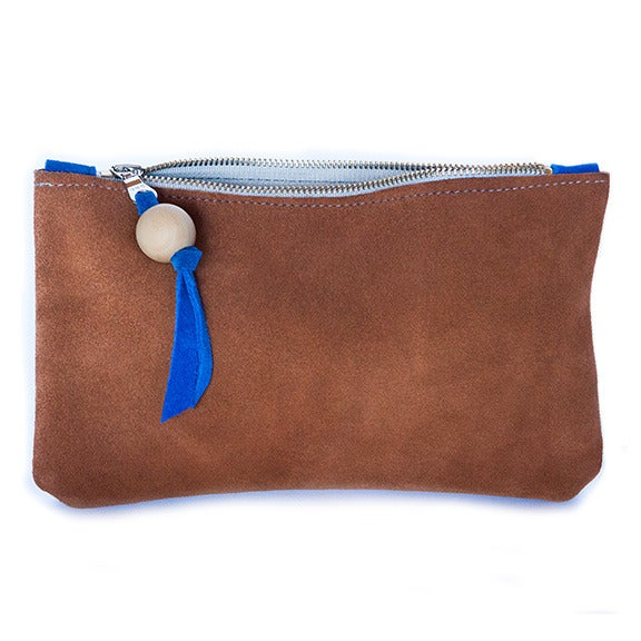 Image of Duality Suede Clutch