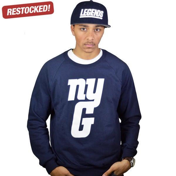 Image of nyg navy sweatshirt (UNISEX)