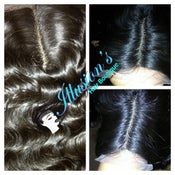 Image of Straight, Body Wave, and Curly Silk Base Closures