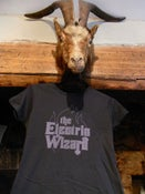 Image of Electric Wizard logo T-shirt New! black & violet