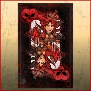 Image of BAD ACE Queen of Hearts Print