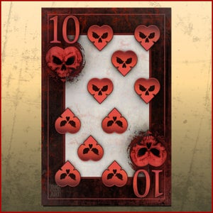 Image of BAD ACE Ten of Hearts Print