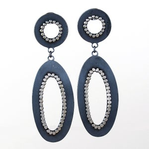 Image of Simple Oval Dangle Posts - oxidized