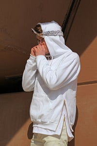 Image of Basic White Zipper Hoodie