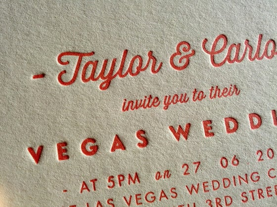 Image of Letterpress Printed Wedding Invitations - 'Pearl'