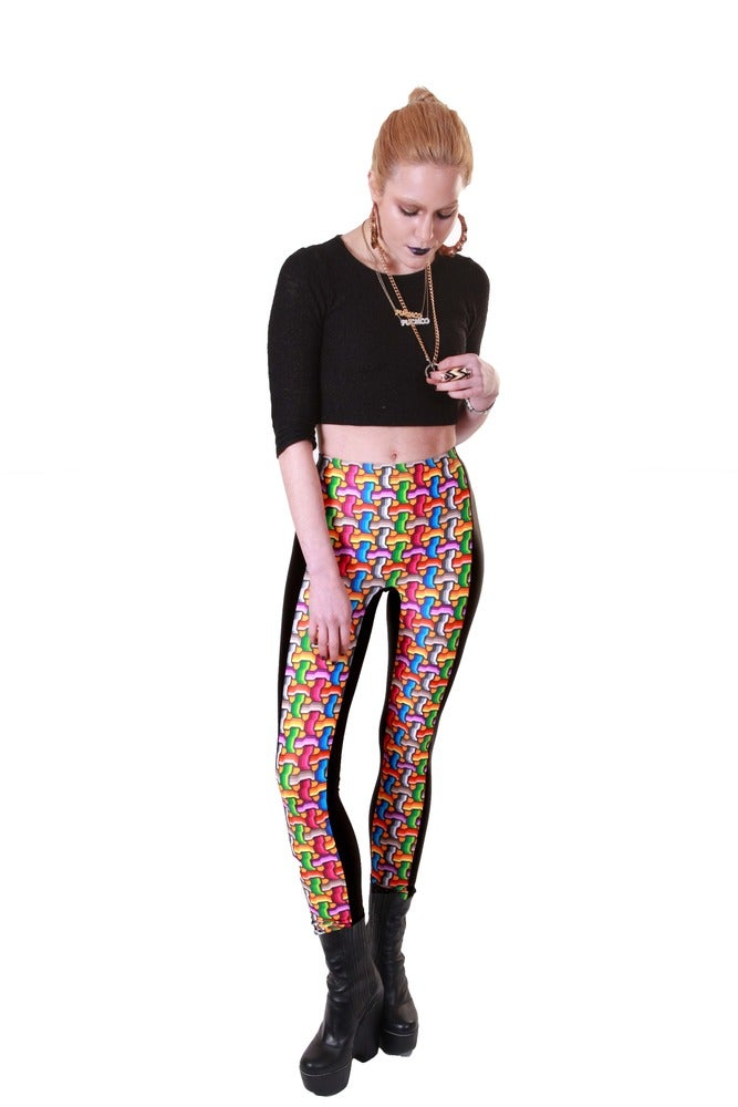 Image of NICO Leggings in VIDEO GAME Print