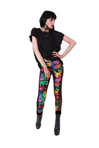 Image of CELINE Leggings in RAINBOW REPTILE Digital Print