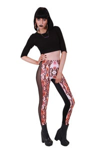 Image of SNAKESKIN DIGITAL PRINT 5 PANEL LEGGINGS