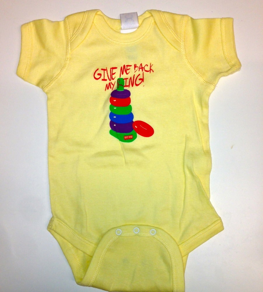 Image of BC Give Me Back My Ring Yellow infant bodysuit