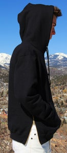 Image of Basic Black Zipper Hoodie